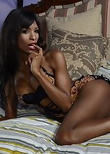 Ebony Natassia strips and plays