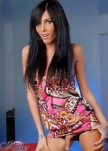 Naughty Kimber James In Mini Dress
