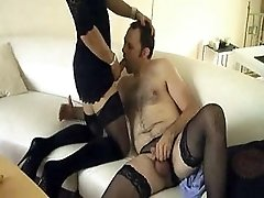 TV slut Zoe sucks crossdressers lovely cock