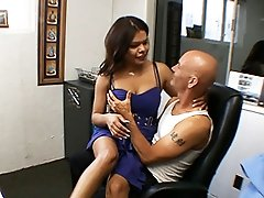 Hot TS having fun with her boss