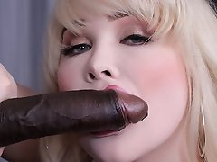 Sarina Valentina in a hot interracial hardcore scene.