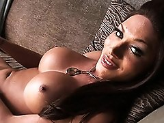 Super hot TS Mia Isabella relaxing after a long day