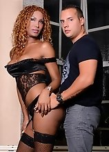 Black Marielle rides a long hard cock
