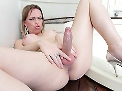 Watch this hardcore tranny threesome go down now!