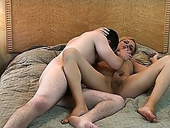 Magnificent TS Jesse sliding her fat cock into Kevin's ass