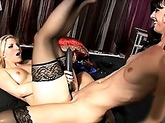 TS Mandy drilling Ashley's hot cunt and mouth
